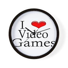 I Heart Video Games Wall Clock