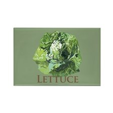 Leafy Lettuce Rectangle Magnet