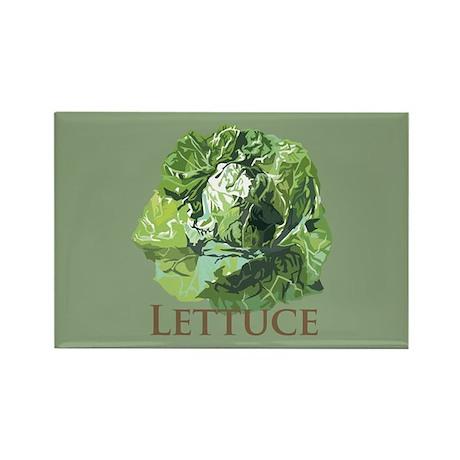 Leafy Lettuce Rectangle Magnet (100 pack)