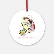 Congratulations Gay Wedding 1 Ornament (Round)