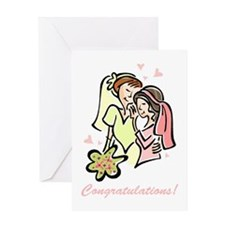 Congratulations Gay Wedding 1 Greeting Card