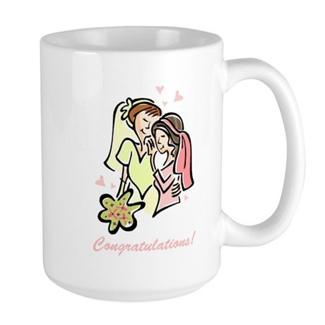 Congratulations Gay Wedding 1 Large Mug