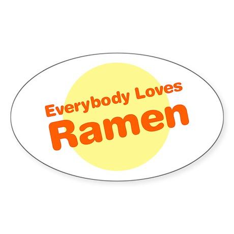 Everybody Loves Ramen Oval Sticker