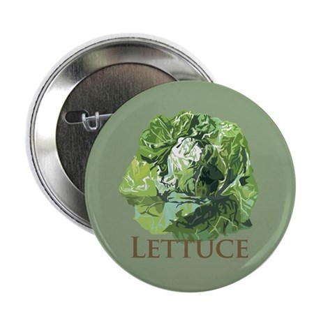 """Leafy Lettuce 2.25"""" Button (10 pack)"""