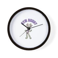 Gym Bunny Girl Wall Clock
