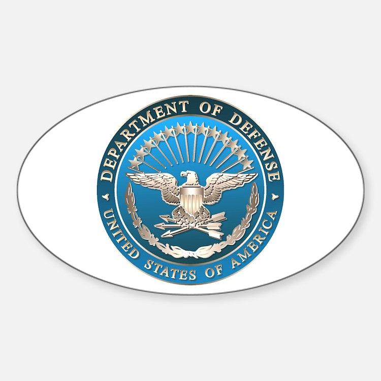 D.O.D. Emblem Oval Decal