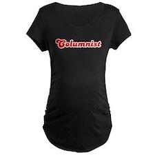 Retro Columnist (Red) T-Shirt