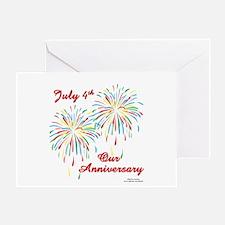 July 4th Anniversary Greeting Card