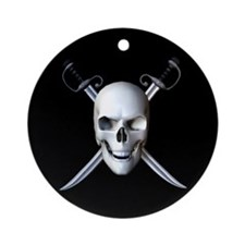 Pirate Skull Flag Keepsake (Round)