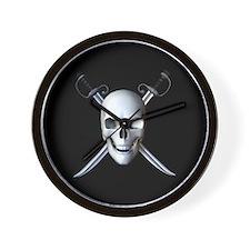 Pirate Skull Flag Wall Clock