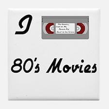 I love 80s Movies Tile Coaster