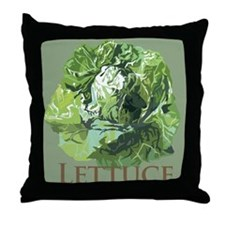 Leafy Lettuce Throw Pillow