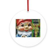 Gnome Body Loves Me Ornament (Round)
