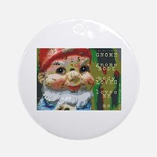 Gnome Body Loves Me Ornament (Round)