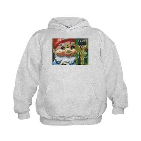 Gnome Body Loves Me Kids Hoodie