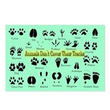 Animal Tracks Footprints Postcards (Package of 8)