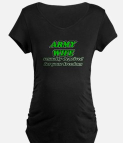 army wife green Maternity T-Shirt