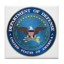 D.O.D. Emblem Tile Coaster