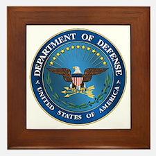 D.O.D. Emblem Framed Tile