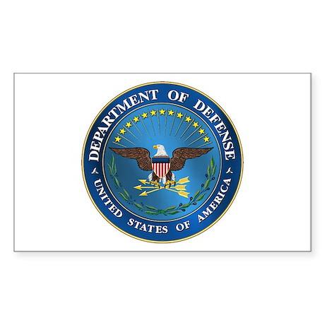 D.O.D. Emblem Rectangle Sticker