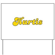 Retro Kurtis (Gold) Yard Sign