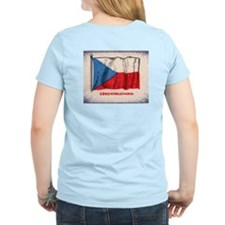 Flag of Czechoslovakia Women's Pink T-Shirt