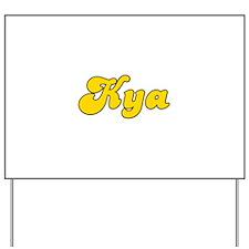 Retro Kya (Gold) Yard Sign