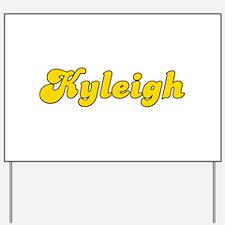 Retro Kyleigh (Gold) Yard Sign