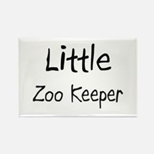 Little Zoo Keeper Rectangle Magnet