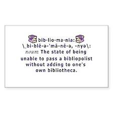 Bibliomania Rectangle Decal