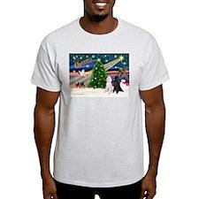 XmasMagic/2 Poodles (st) T-Shirt