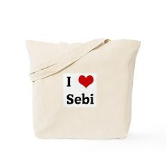 I Love Sebi Tote Bag