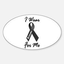 I Wear Black For Me 1 Oval Decal