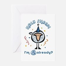 """Holy Sheep!  I'm 5 already?"" Greeting Cards (Pack"
