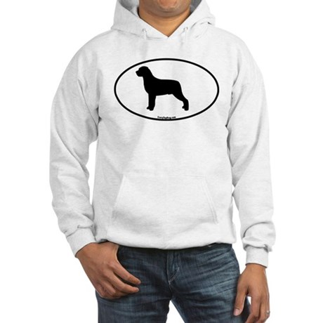 Rottweiler Oval Hooded Sweatshirt