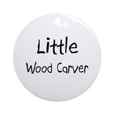 Little Wood Carver Ornament (Round)