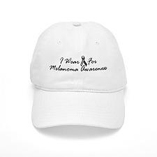 I Wear Black For Melanoma Awareness 1 Baseball Cap