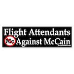Flight Attendants Against McCain sticker