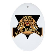 Atlas Athletics Oval Ornament