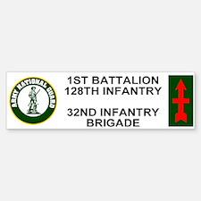 1-128th Infantry <BR>Bumper Sticker 1
