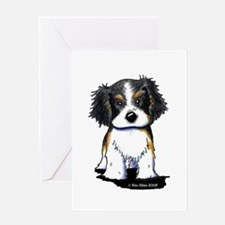 Tricolor CKC Spaniel Greeting Card