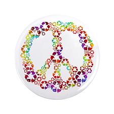 "Light Rainbow Recycle Peace 3.5"" Button"