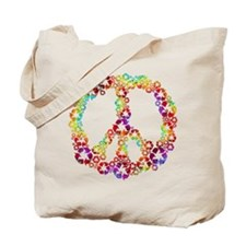 Light Rainbow Recycle Peace Tote Bag