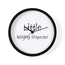 Little Welding Inspector Wall Clock