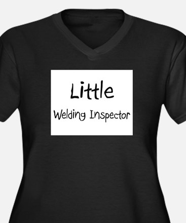 Little Welding Inspector Women's Plus Size V-Neck