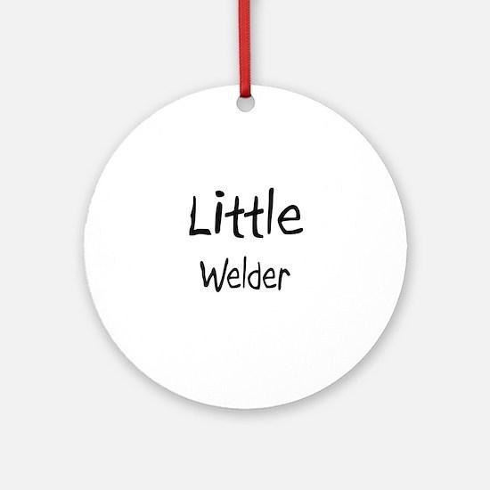 Little Welder Ornament (Round)