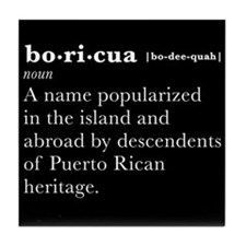 Boricua Definition Tile Coaster