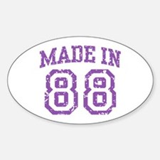 Made in 88 Oval Decal