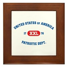 XXL Patriotic Dept. Framed Tile