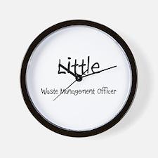 Little Waste Management Officer Wall Clock